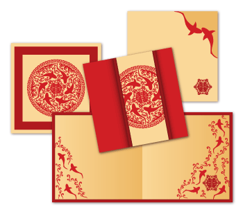 Wedding stationery suite for hong kong shark foundation invitation square folding card stopboris Gallery